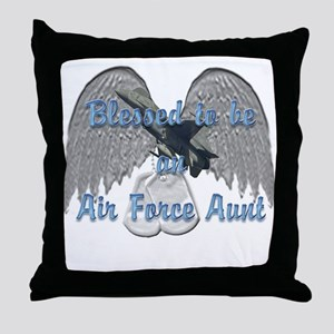 Blessed Air Force Aunt Throw Pillow