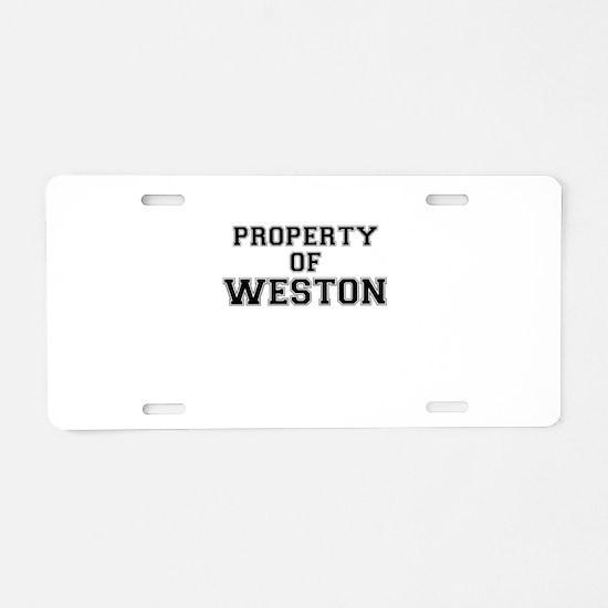 Property of WESTON Aluminum License Plate