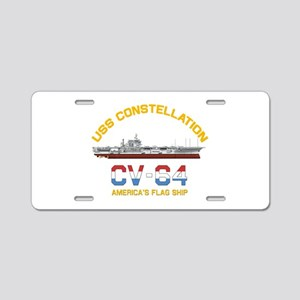America's Flag Ship Aluminum License Plate