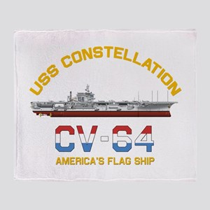 America's Flag Ship Throw Blanket