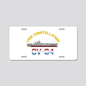 CV-64 RED, WHITE & BLUE Aluminum License Plate