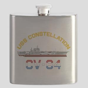 CV-64 RED, WHITE & BLUE Flask
