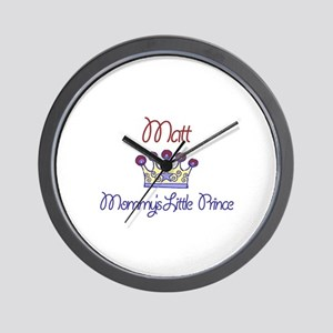 Matt - Mommy's Little Prince  Wall Clock