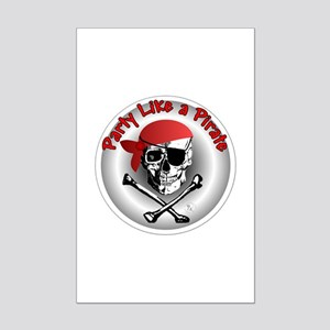 Party like a Pirate Mini Poster Print