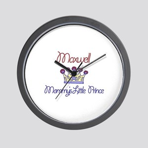 Maxwell - Mommy's Little Prin Wall Clock