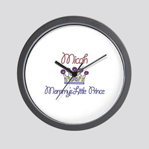 Micah - Mommy's Little Prince Wall Clock