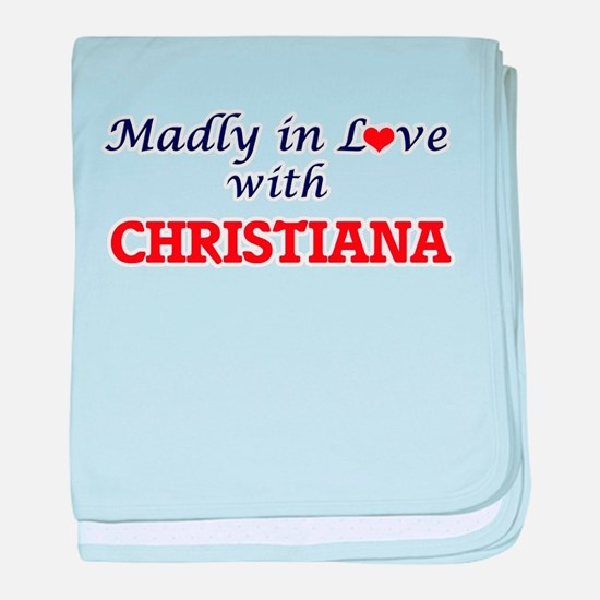 Madly in Love with Christiana baby blanket