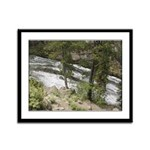 Gibbon Falls Yellowstone Framed Panel Print