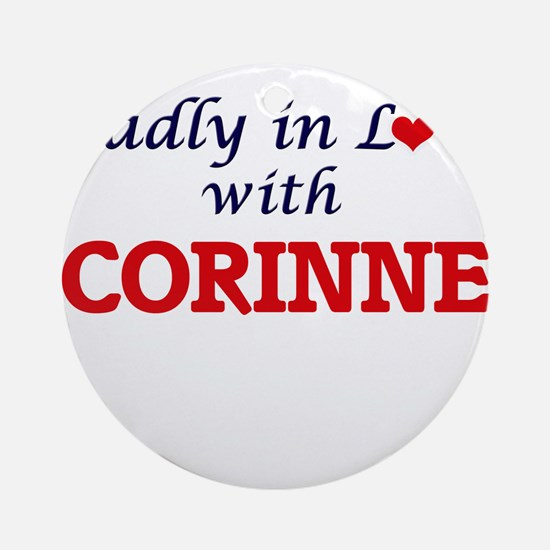 Madly in Love with Corinne Round Ornament