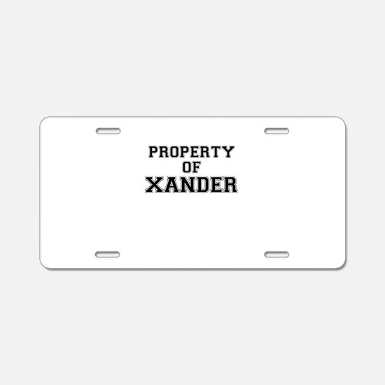 Property of XANDER Aluminum License Plate