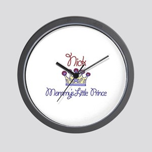 Nick - Mommy's Little Prince  Wall Clock