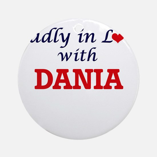 Madly in Love with Dania Round Ornament
