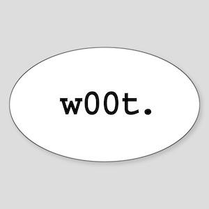 w00t. Oval Sticker