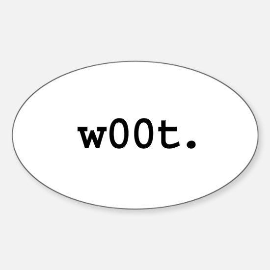 w00t. Oval Decal