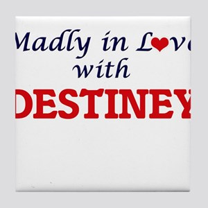 Madly in Love with Destiney Tile Coaster