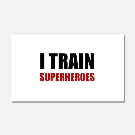 I Train Superheroes Car Magnet 20 x 12