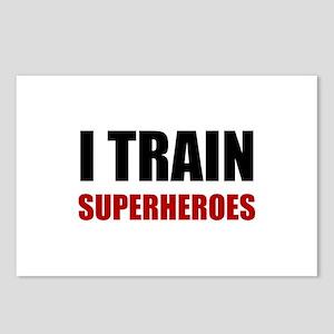 I Train Superheroes Postcards (Package of 8)