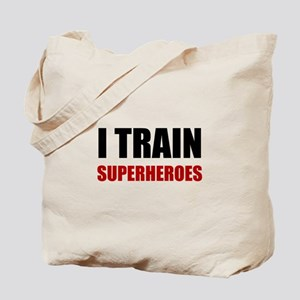 I Train Superheroes Tote Bag