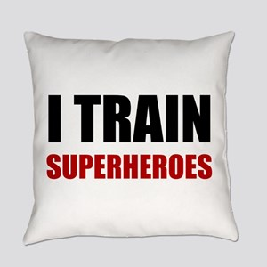 I Train Superheroes Everyday Pillow