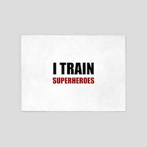 I Train Superheroes 5'x7'Area Rug