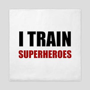 I Train Superheroes Queen Duvet