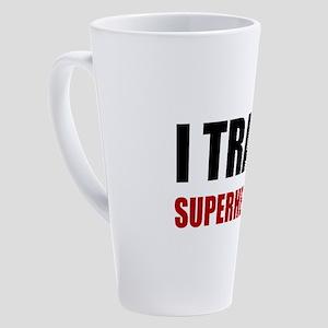 I Train Superheroes 17 oz Latte Mug