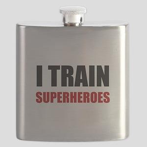 I Train Superheroes Flask