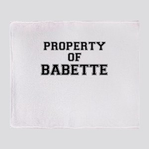 Property of BABETTE Throw Blanket