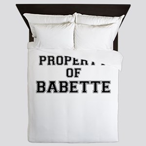 Property of BABETTE Queen Duvet