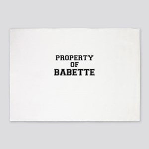 Property of BABETTE 5'x7'Area Rug