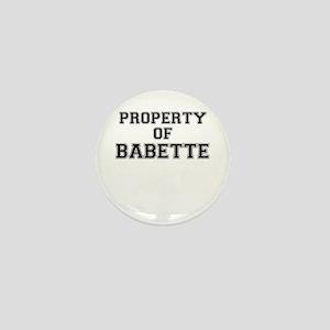Property of BABETTE Mini Button