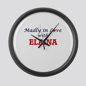 Madly in Love with Elaina Large Wall Clock