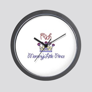 Rich - Mommy's Little Prince  Wall Clock