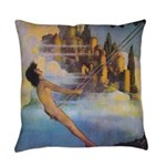 Dinky Bird Maxfield Parrish Everyday Pillow