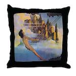 Dinky Bird Maxfield Parrish Throw Pillow