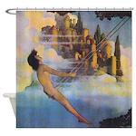 Dinky Bird Maxfield Parrish Shower Curtain