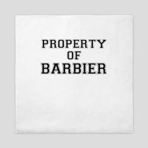 Property of BARBIER Queen Duvet