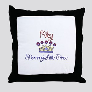 Riley - Mommy's Little Prince Throw Pillow