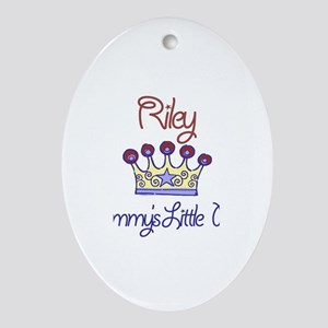 Riley - Mommy's Little Prince Oval Ornament