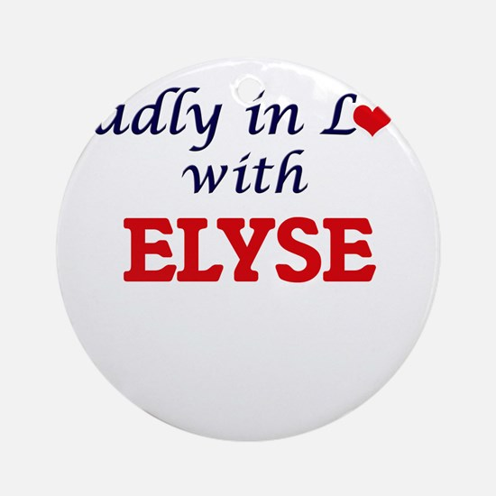 Madly in Love with Elyse Round Ornament