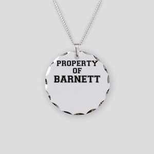 Property of BARNETT Necklace Circle Charm