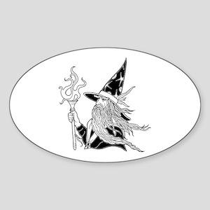 Wizard 5 Oval Sticker