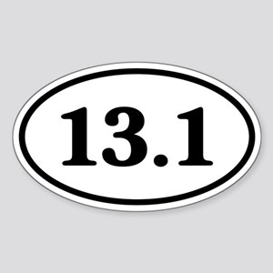 13.1 Half Marathon Runner Oval Sticker