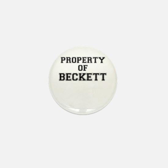Property of BECKETT Mini Button