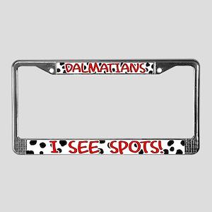 I See Spots License Plate Frame