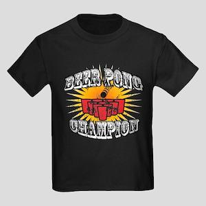 Beer Pong Champion Kids Dark T-Shirt
