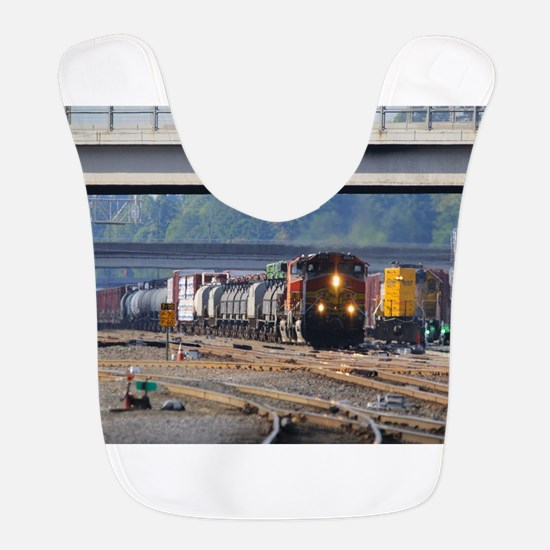 BNSF through Vancouver Polyester Baby Bib