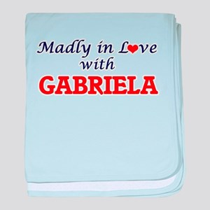 Madly in Love with Gabriela baby blanket