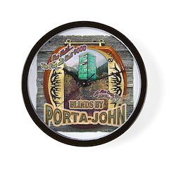Porta John hunting blinds mak Wall Clock