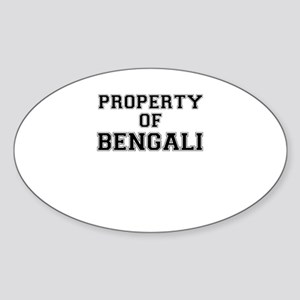 Property of BENGALI Sticker